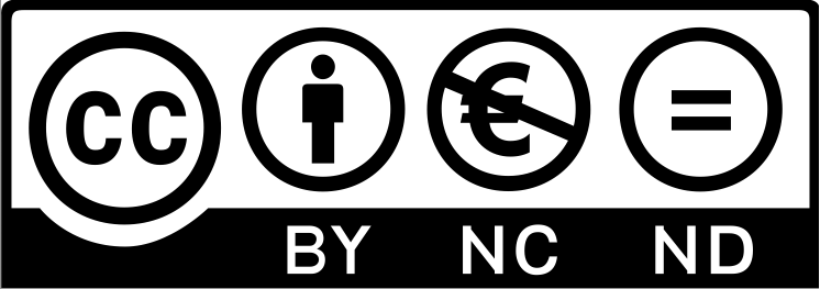 Creative commons BY NC ND